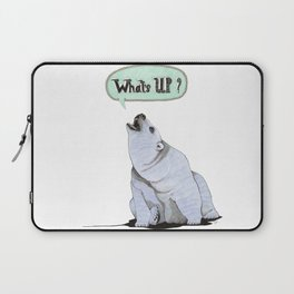 What's Up Bear Laptop Sleeve