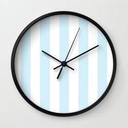 Water heavenly - solid color - white vertical lines pattern Wall Clock