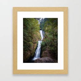 Bridal Veil Falls - Columbia River Gorge, Oregon Framed Art Print