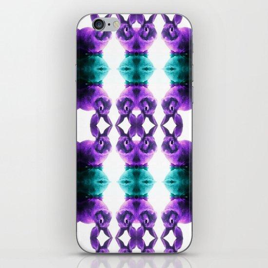 Turquoise/Lavender Rabbit  iPhone & iPod Skin