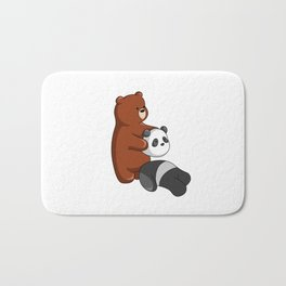 Hey Bear Grizzly Pulls Off Panda Bear Head Bath Mat