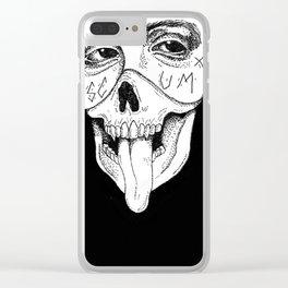 """""""Scum Yumm"""" Clear iPhone Case"""