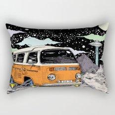 Moon Ride Color Rectangular Pillow