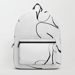 Female Figure Line Art Backpack