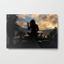 SUP Sunset Metal Print