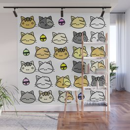 Meowy Days Wall Mural