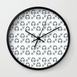 Stirrups & Bits Wall Clock