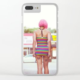 playing with dress Clear iPhone Case
