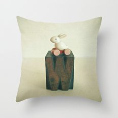 W is for Wheels Throw Pillow