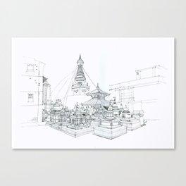 Swayambhunath    Kathmandu Canvas Print