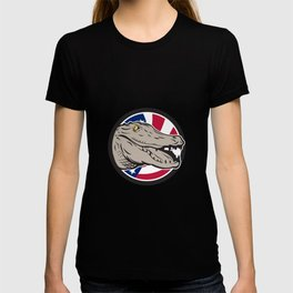 American Alligator USA Flag Icon T-shirt