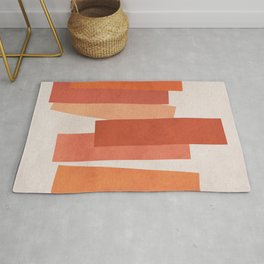 Warm Minimalism • Expressionism • Geometric abstraction • Modern abstract art • Colorblock Rug