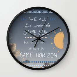 Same Sky, Different Horizon  Wall Clock