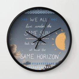 Same Sky, Different Horizon  Wall Clock