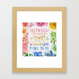 Between the pages Framed Art Print