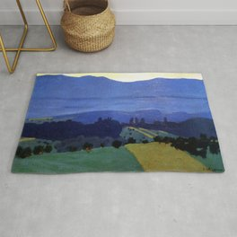 Felix Vallotton -  Landscape in the Jura Mountains (new color editing) Rug