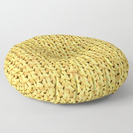 Seed Stitch Yellow Floor Pillow