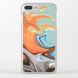 Abstract Waves 2 (Parrot) Clear iPhone Case