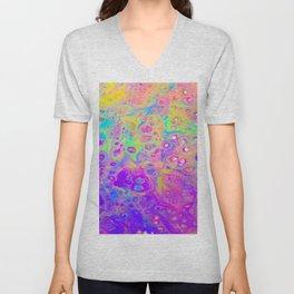 Rainbow Psychedelic Bubbles Unisex V-Neck