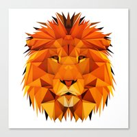 courage Canvas Prints featuring Courage by jenkydesign
