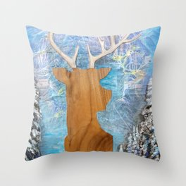 just heavenly, deer Throw Pillow