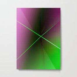 Minimal Landscape with Neon Light Metal Print