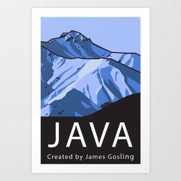 Java Programming Landscape poster Art Print