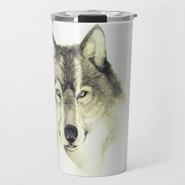 The eyes of Wolf Travel Mug