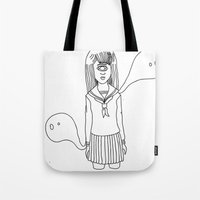 cyclops Tote Bags featuring CYCLOPS by AMBArts