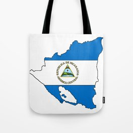 Nicaragua Map with Nicaraguan Flag Tote Bag