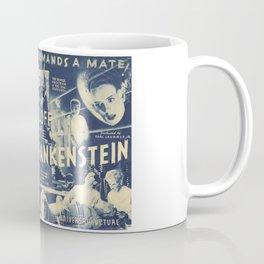 Bride of Frankenstein, vintage horror movie poster Coffee Mug