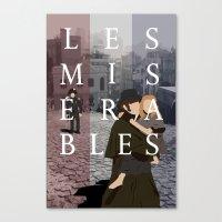 les miserables Canvas Prints featuring Les Miserables by Aaron Johnson Design