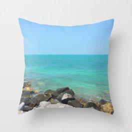 Key West Seascape Throw Pillow