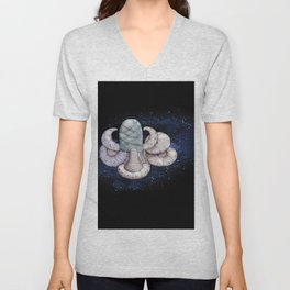 Space station from the fantastic world of the future . artwork Unisex V-Neck