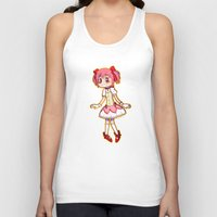 madoka Tank Tops featuring Our Lord & Savior Madoka by TouchPadArt