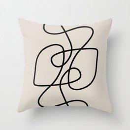Modern Line Art Throw Pillow