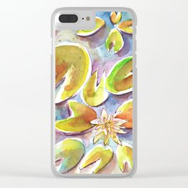 Waterlily I Clear iPhone Case