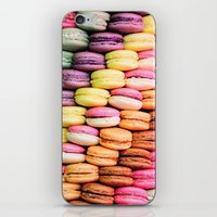 macaroons iPhone & iPod Skins featuring Macaroons by lescapricesdefilles