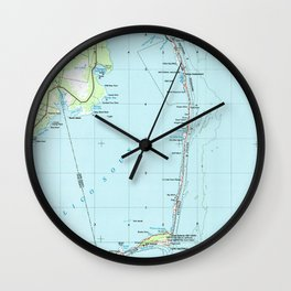 Vintage Southern Outer Banks Map (1957) Wall Clock