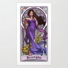 Zodiac Art Show - Scorpio Art Print