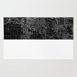 Cleveland map Ohio Rug