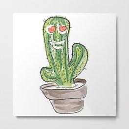 Cactus has a crush Metal Print