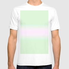Pink and Green Mens Fitted Tee White MEDIUM
