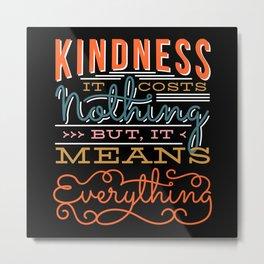 Anti Bullying Kindness Be Kind Girl Gift Metal Print