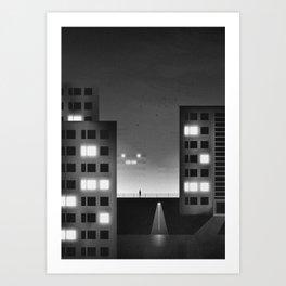 Talking Lights Art Print