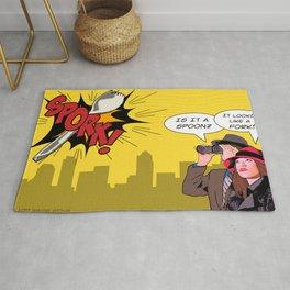Comic Book Spork Rug