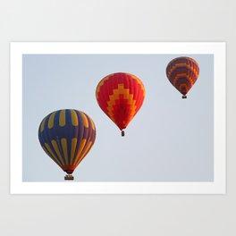 Hot air balloons launching at dawn Art Print