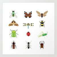 insects Art Prints featuring insects by Alysha Dawn