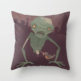 Sickly Zombie Throw Pillow