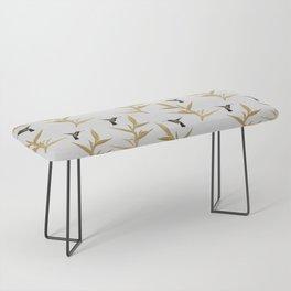 Hummingbird & Flower II Bench